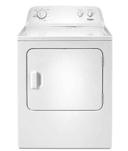 Whirlpool 7.0 cu.ft Top Load Electric Dryer with Wrinkle Shield™