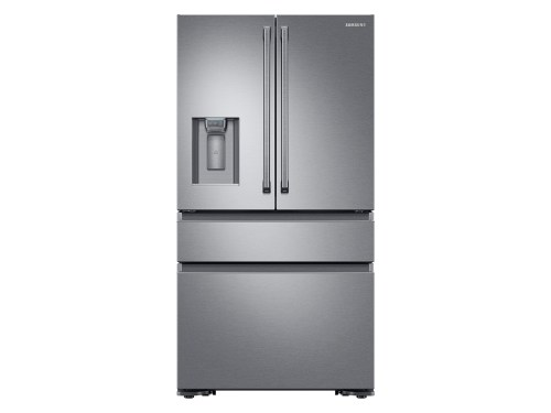 Samsung 23 cu. ft. Capacity Counter Depth 4-Door French Door Refrigerator with Polygon Handles