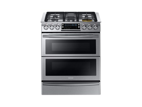 Samsung 5.8 cu. ft. Slide-in Dual Fuel Range with Flex Duo™ and Dual Door