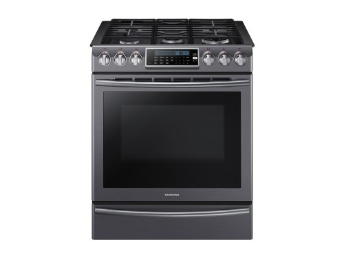 Model: NX58K9500WG | Samsung 5.8 cu. ft. Slide-In Gas Range with True Convection