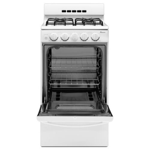 Model: AGG222VDW | Amana 20-inch Gas Range with Compact Oven Capacity