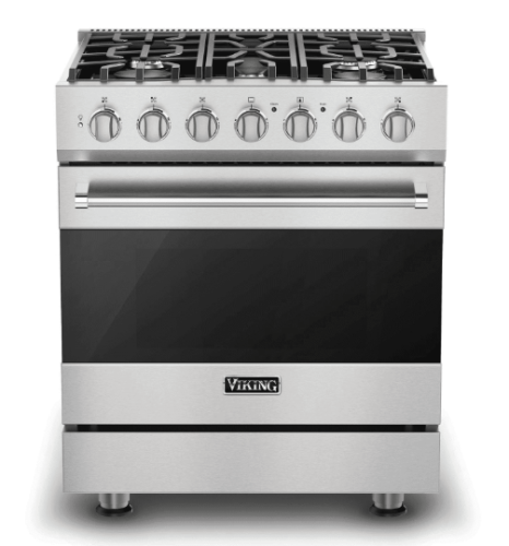 "Viking 30"" Gas Self-Clean Range with Five Burners - SS"