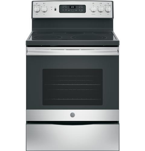 "Model: JB655SKSS | GE GE® 30"" Free-Standing Electric Convection Range"