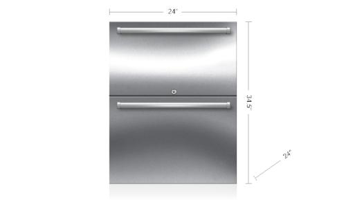 "Model: ID-24RO | Sub-Zero 24"" Designer Outdoor Refrigerator Drawers - Panel Ready"
