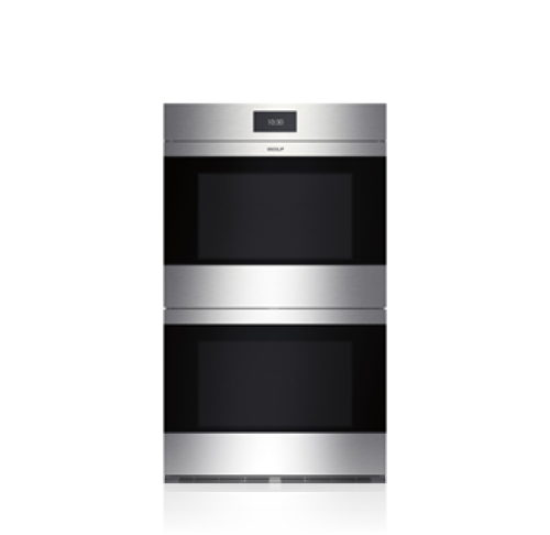 "Wolf 30"" M Series Contemporary Stainless Steel Built-In Double Oven"