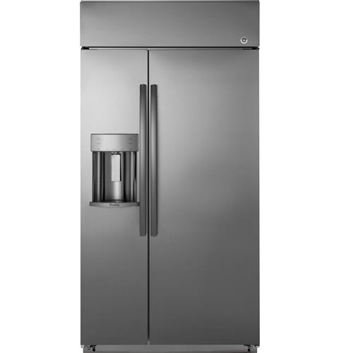 "GE Profile GE Profile™ Series 48"" Built-In Side-by-Side Refrigerator with Dispenser"