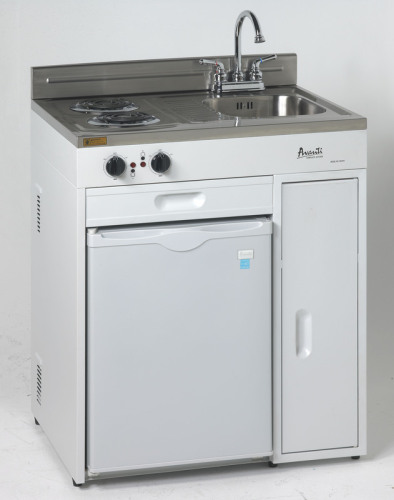 """Avanti 30"""" Complete Compact Kitchen with Refrigerator"""