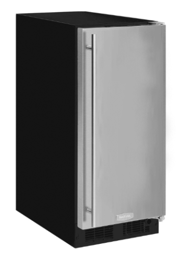 "Marvel  15"" ADA Height Clear Ice Machine -Factory Installed Pump Solid Stainless Steel Door, Right Hinge"