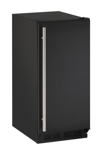 U-Line 15-In. 1000 Series Black, Field-Reversible Crescent Ice Maker