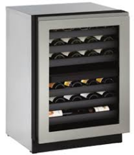 U-Line 24-In. Modular 3000 Series Wine Captain with Stainless Frame Right-Handed Door and Lock