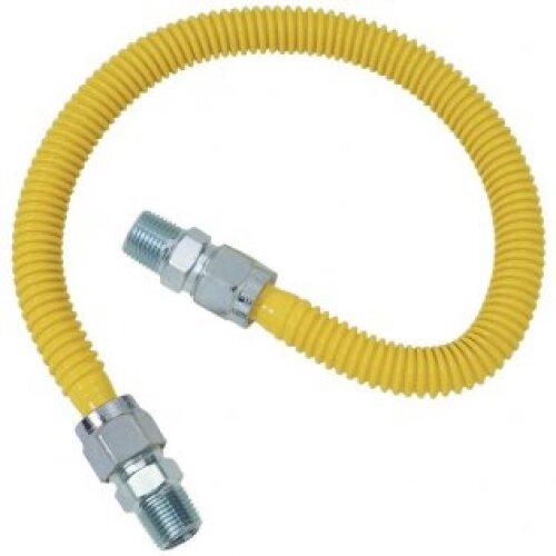"ADC 4 Foot Gas Flex Line 1/2"" mip x 1/2"" mip - 25 Pack"