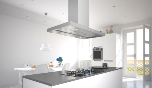 Model: BELAIS48SS600 | Faber 48-In. Bella Isola Stainless Steel Island Range Hood