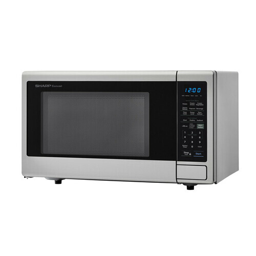 Sharp Appliances 1.4 cu. ft. 1000W Sharp Stainless Steel Carousel Countertop Microwave Oven