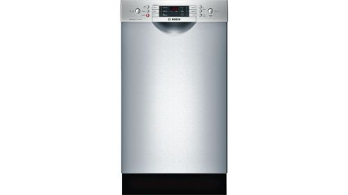 "Bosch 800 Series 18"" Special Application Recessed Handle Dishwasher SPE68U55UC  Stainless steel"