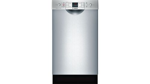 "Bosch 300 Series18"" Special Application Recessed Handle DishwasherSPE53U55UCStainless steel"