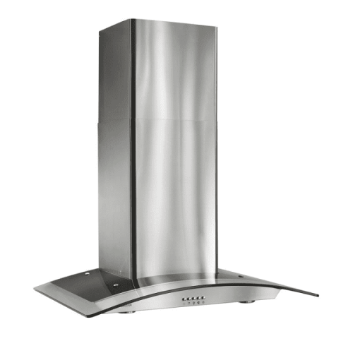 """Broan 35-7/16"""" Arched Glass Chimney Hood"""