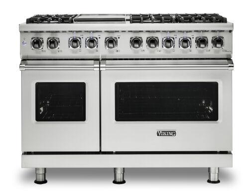 "Viking 48""W./24""D. Dual Fuel Self-Clean Sealed Burner Range-6 Burners/Griddle-Stainless"
