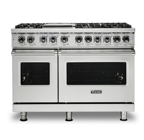 "Viking PRO FREESTANDING DUAL FUEL 48""W W/GRIDDLE RANGE- SS"