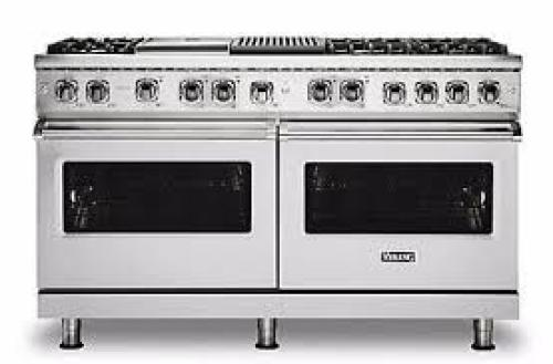 """Viking PRO FREESTANDING DUAL FUEL 60""""W W/GRIDDLE & GRILL RANGE- SS"""