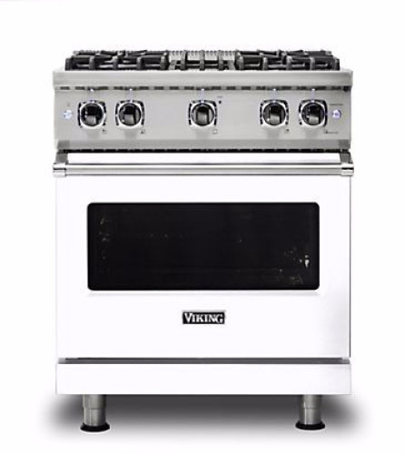 "Viking PRO VGR GAS 30""W SEALED BURNER RANGE- WHLP"