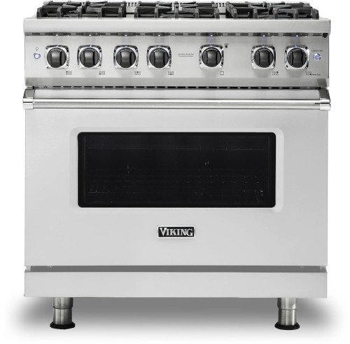 "Viking PRO VGR GAS 36""W SEALED BURNER RANGE- SSLP"