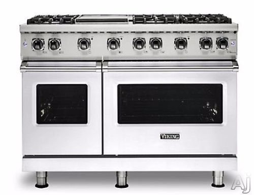 "Viking PRO VGR GAS 48""W SEALED BURNER RANGE- WH"