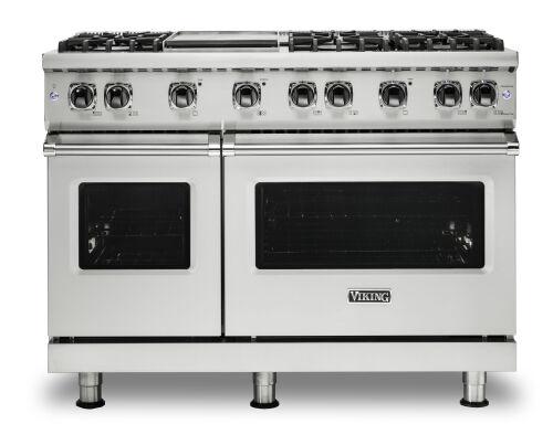 """Viking 48""""W./24""""D. Gas Sealed Burner Range-6 Burners/Griddle-Stainless"""