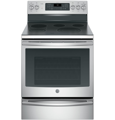 "GE Profile GE Profile™ Series 30"" Free-Standing Electric Convection Range"