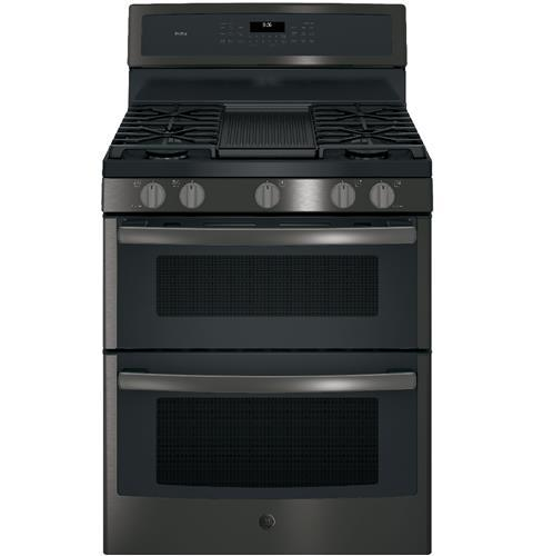 "GE Profile GE Profile™ Series 30"" Free-Standing Gas Double Oven Convection Range"
