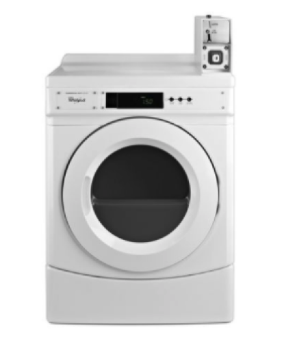 """Whirlpool 27"""" Commercial Gas Front-Load Dryer Featuring Factory-Installed Coin Drop with Coin Box"""