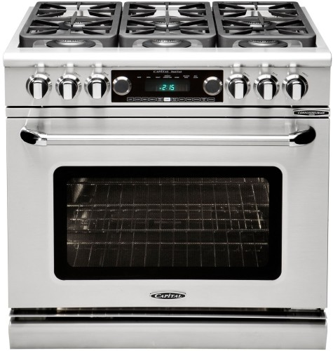 "Capital Cooking Connoisseurian 36"" Dual Fuel Self Clean Range- LP"
