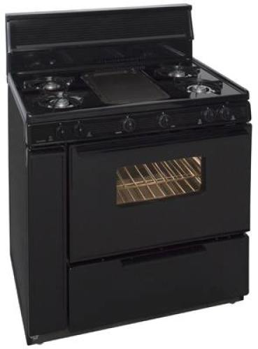 "Premier 36"" Gas Range - Black  (picture is in white)"