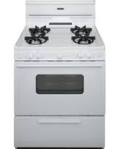 30 Inch  Sealed Burner  Electronic Spark Gas Range - White