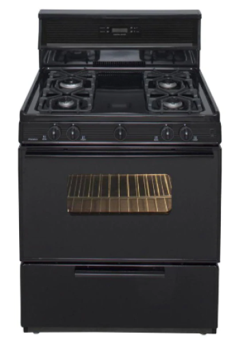Premier 30 Inch  Sealed Burner  Electronic Spark Gas Range - Black