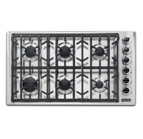 "Viking 36""W GAS COOKTOP 6 BURNERS- SS"