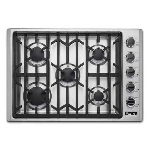 "Viking 30""W GAS COOKTOP 5 BURNERS- SS"