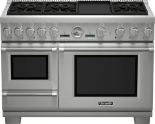 Model: PRD48JDSGU | 48 inch Professional Series Pro Grand Commercial Depth Dual Fuel Steam Range