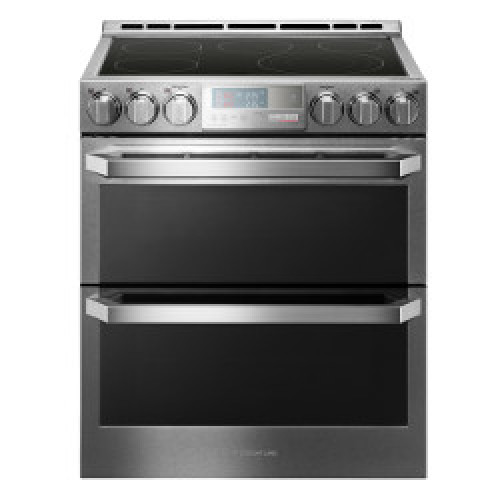 LG Signature LG SIGNATURE 7.3 cu.ft. Smart wi-fi Enabled Electric Double Oven Slide-In Range with ProBake Conv