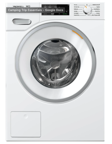 Miele WWF060  W1 Front-loading washing machinewith CapDosing and WiFiConn@ct.