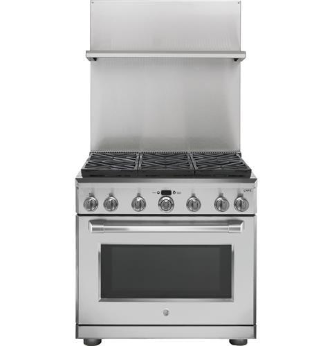 "Model: UXADJB36PSS | GE Profile 36"" Professional 30""-36"" Adjustable Height Backsplash with Shelf"