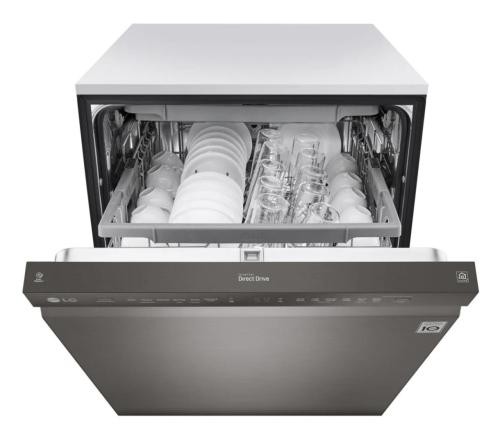 Model: LDF5678BD | LG Front Control Smart wi-fi Enabled Dishwasher with QuadWash™