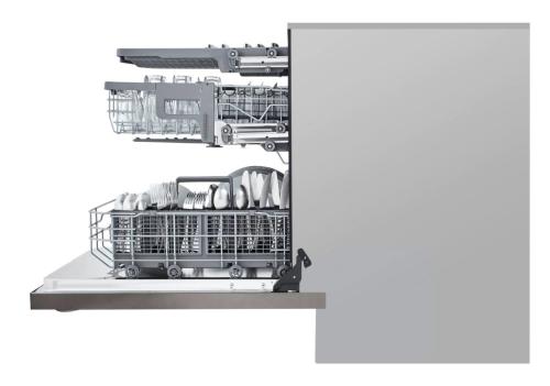 Model: LDT5678BD | LG Top Control Smart wi-fi Enabled Dishwasher with QuadWash™