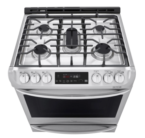 Model: LSD4913ST   LG 6.3 cu. ft. Smart wi-fi Enabled Dual Fuel Slide-in Range with ProBake Convection® and EasyClean