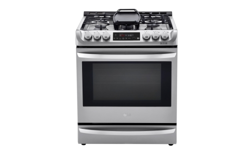 LG 6.3 cu. ft. Smart wi-fi Enabled Dual Fuel Slide-in Range with ProBake Convection® and EasyClean®