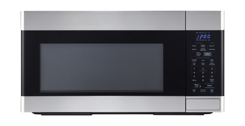 Sharp Appliances 1.6 CF OTR Microwave, 1000W, 2-Speed, Fan, Sensor Interactive - Stainless