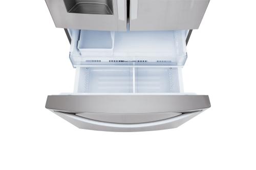 Model: LFXC22526S   LG 22 cu. ft. Smart wi-fi Enabled French Door Counter-Depth Refrigerator