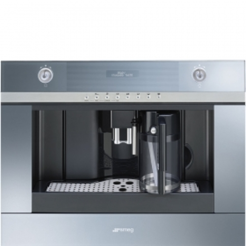 Model: CMSCU451S | Smeg Fully-Automatic Coffee Machine With Milk Frother Supersilver glass
