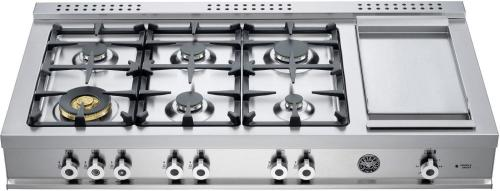 "Bertazzoni 48"" Rangetop with 6 burners & Electric Griddle"