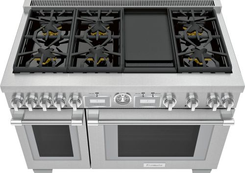 Model: PRD486WDGU | Thermador 48-Inch  Dual Fuel Range with Griddle