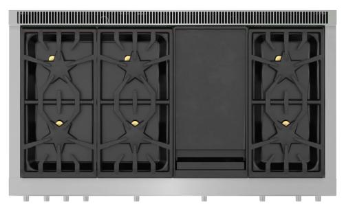Model: PRD486WDHU | Thermador Dual Fuel Professional Range 48''